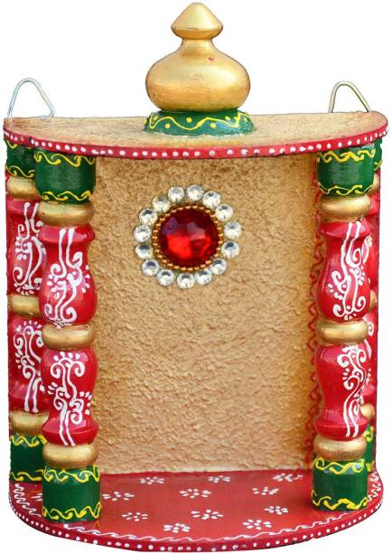 Saugat Traders Sa_ugat Tra_ders Decorative Handmade Wooden Home Temple for Home Decor, Office, Home, Shop Mandir, Temple, Puja Ghar, Diwali Puja, Vastu Friendly Temple, Decorative Item, All Festive Gifts Solid Wood Home Temple