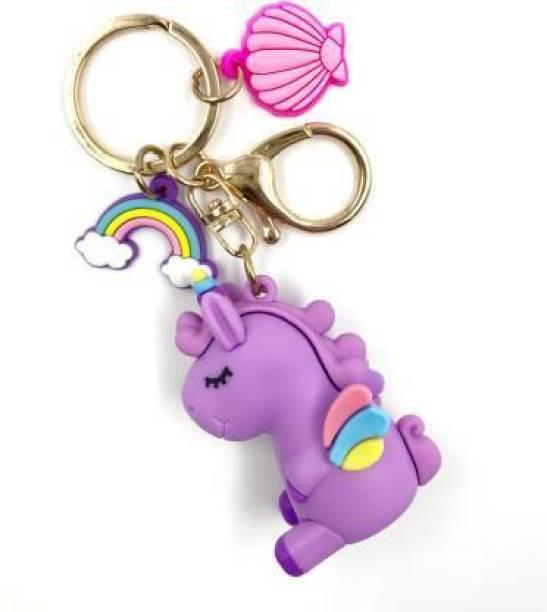 Rockjon Cute Unicorn (Purple) Heavy Keyring/ Jewellery Key Chain Key Chain