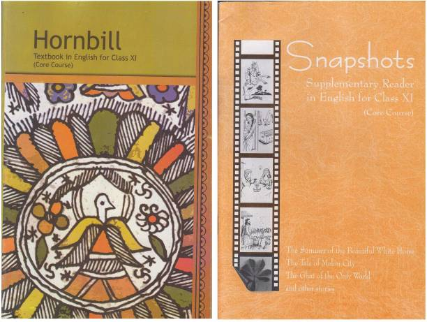 NCERT BOOK , Hornbill Textbook In English ,Snapshots Supplementary Reader In English For Class-XI (Core Course) ,[COMBO PACK]