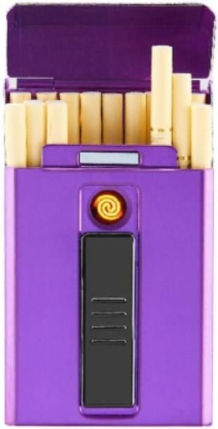 GREYFIRE USB Rechargeable Slim Cigarettes Case Cigarette Lighter