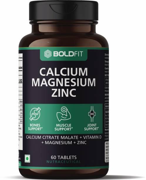 BOLDFIT Calcium supplement 1000mg With Magnesium & Zinc For Women & Men