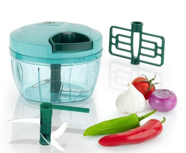 kewin TURBO 550ml Power Free Handy Fruit And Vegetable Chopper (Pack of 1) Vegetable & Fruit Chopper