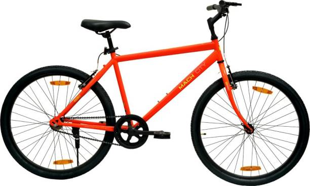 Mach City IBike Single Speed Red 26 inch 26 T Hybrid Cycle/City Bike