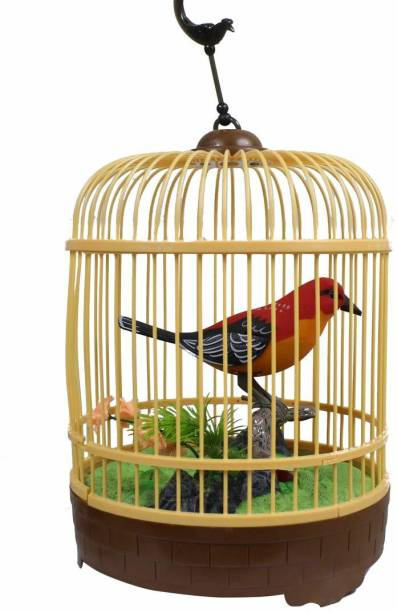 RISING BABY Beautiful bird Singing Moving Chirping Beautiful Electronic Bird Pet with soft music and sound like a bird(Multicolor)