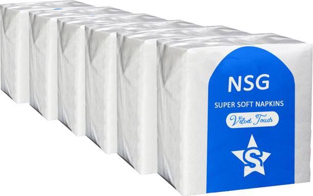 NSG 12 White Napkins
