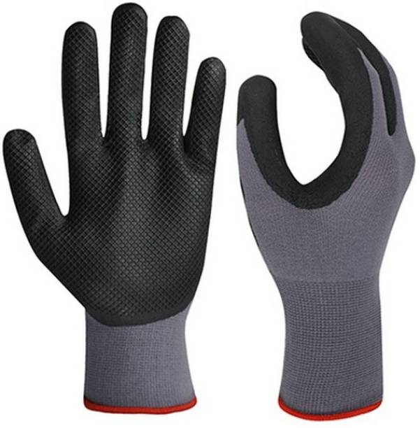 NEW INDIA FIRE TECH NTCSM31 Cut Restitance Nylno Washable Reusable Hand Safety Gloves For WOMEN MEN GIRLS BOYS WORKER INDRUSTIRIAL CHEMICAL WORKING Nylon  Safety Gloves