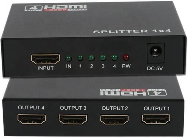 HL Technology HDMI Splitter 1 In 4 Out Full HD 4-Port Hub Repeater Amplifier v1.4 3d 4K 1080p hdmi 1.4 splitter For HDTV DVD PS3 Xbox EU Media Streaming Device