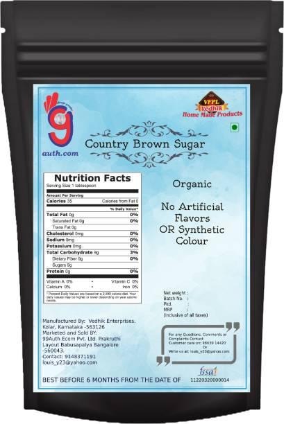 99Auth Brown Sugar 1.5kg Country Brown Sugar Pure Natural Organic Sugar