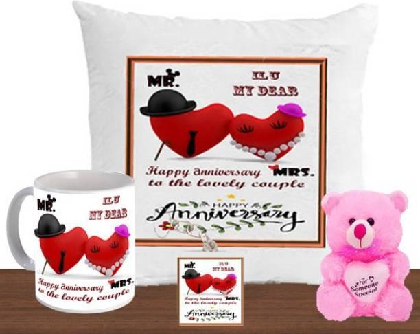 AMKK Cushion, Mug, Keychain, Soft Toy Gift Set