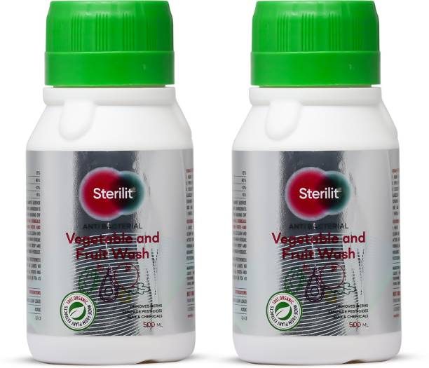 Sterilit Anti Bacterial Vegetable and Fruit Wash |Removes Germs,Wax and Chemicals