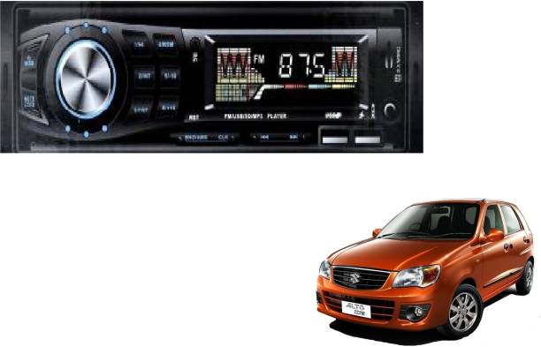 Grizzly Impact IM-333 (CHARGING CABLE) Fixed Panel Single Din MP3 Bluetooth/USB/FM/AUX/MMC IM-333 Car Stereo Car Amplifier for Suzuki Alto K10 (Single Din) Multi Class D Car Amplifier