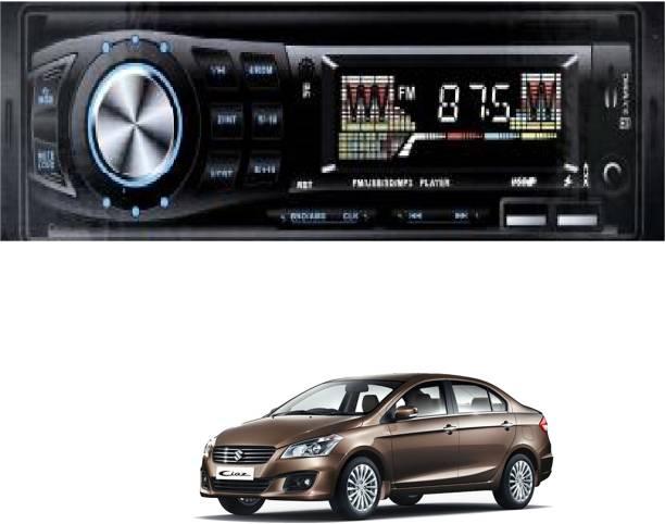Grizzly Impact IM-333 (CHARGING CABLE) Fixed Panel Single Din MP3 Bluetooth/USB/FM/AUX/MMC IM-333 Car Stereo Car Amlifier forSuzuki ciaz (Single Din) Multi Class D Car Amplifier