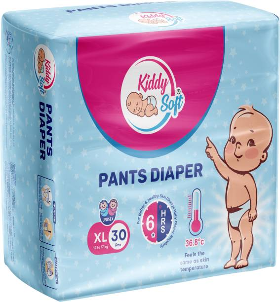 KiddySoft Pants Diaper, Extra Large, 30 Counts - XL