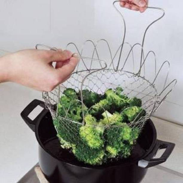 VEERA ZONE Fruit & Vegetable Baskets Stainless Steel Fruit & Vegetable Basket