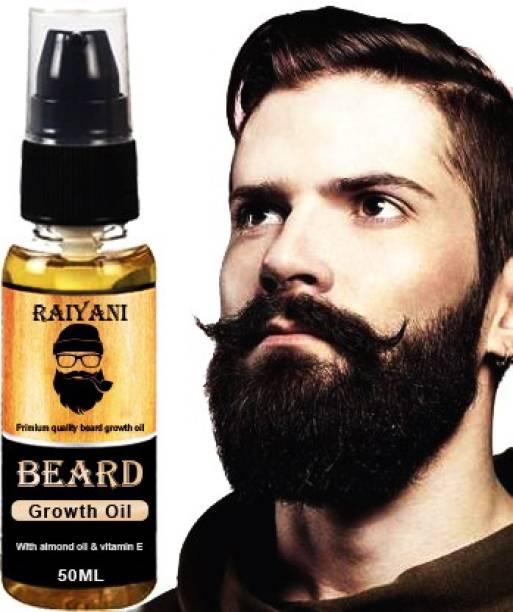 Raiyani Advanced Beard Growth Oil | With Jojoba & 8 Essential Oils | 100% Natural Hair Oil (50 ml) Hair Oil