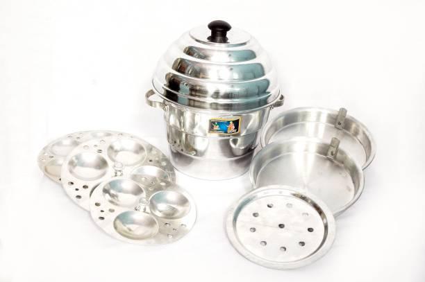 malti BEST IDLI MAKER WITH 1POT, 1 LID, 3 IDLI PLATES, 3 DHOKLA PLATES Food Steamer