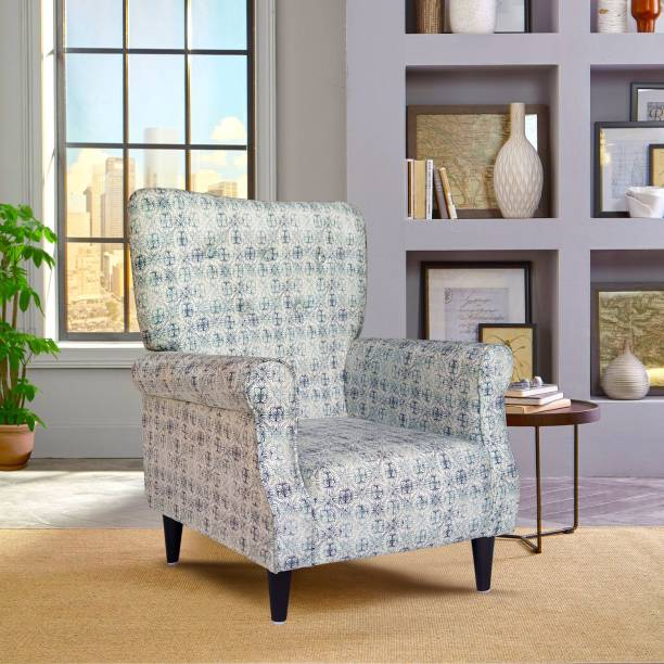 ARRA Leon Living Room Accent Wing Chair Fabric Living Room Chair