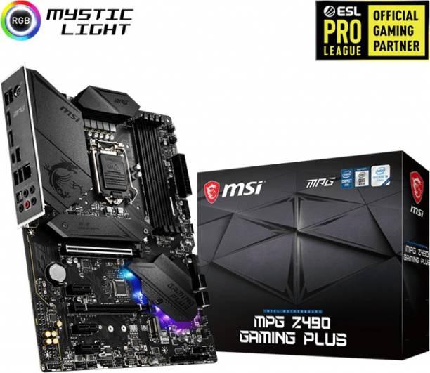msi MPG Z490 GAMING PLUS ATX LGA 1200 Gaming Motherboard