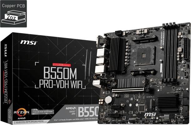 MSI B550M PRO-VDH WIFI Micro-ATX AM4 Gaming Motherboard