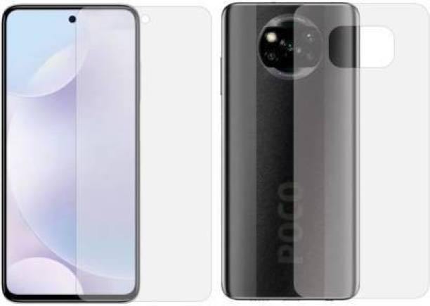 SOLIVAGANT Front and Back Tempered Glass for Poco X3