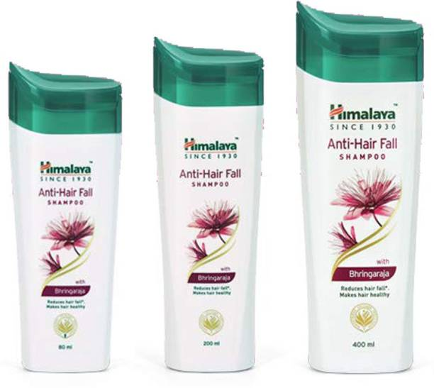 HIMALAYA Anti Hair Fall Shampoo Reduce Hair Fall makes Hair Healthy (80ml+200ml+400ml)