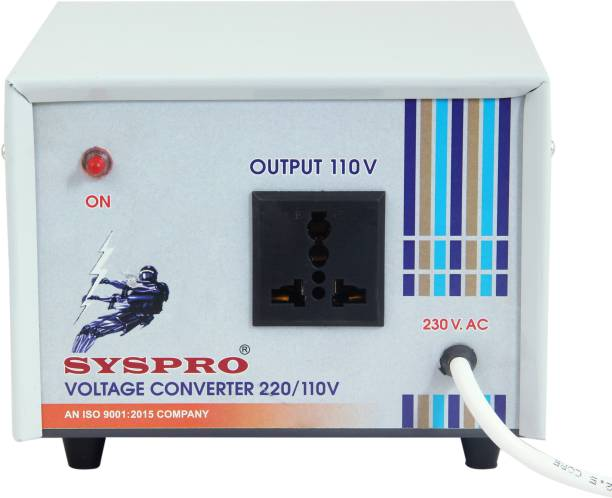 Syspro Ranger 220V to 110V Voltage Converter Step Down Converter (600w) for US appliances Used in India VOLTAGE CONVERTER
