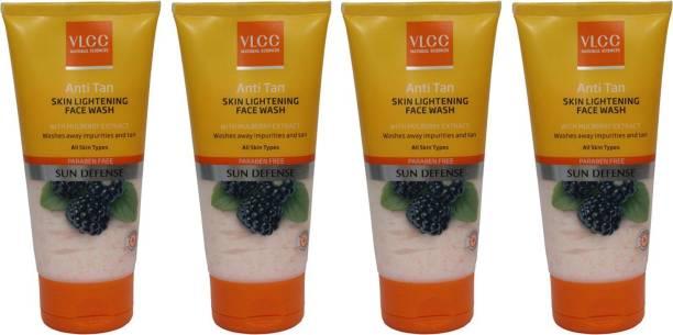 VLCC Anti Tan Skin Lightening Pack of 4 Face Wash