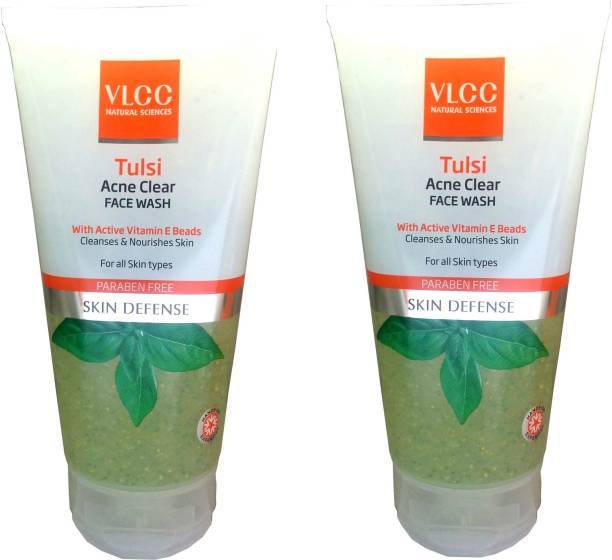 VLCC Tulsi Acne Clear Facewash (Pack of 2 * 150 ML) Face Wash