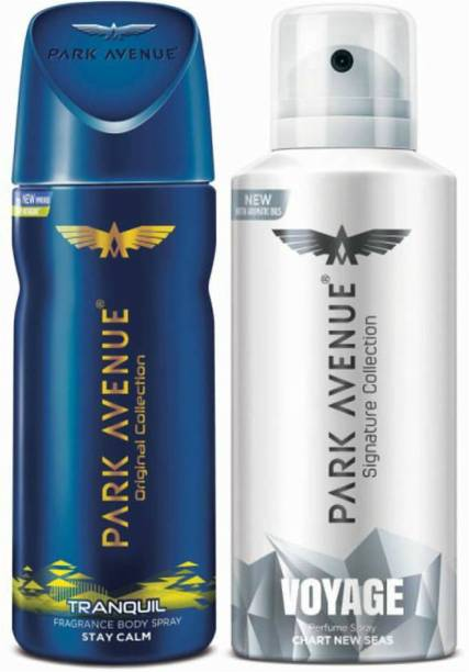 PARK AVENUE One Tranquil, One Voyage Signature Deodorant Combo for Men(Pack of 2) Deodorant Spray  -  For Men