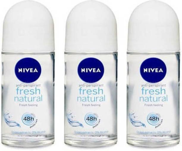 NIVEA Fresh Natural Roll On (Pack of 2) Deodorant Roll-on  -  For Women