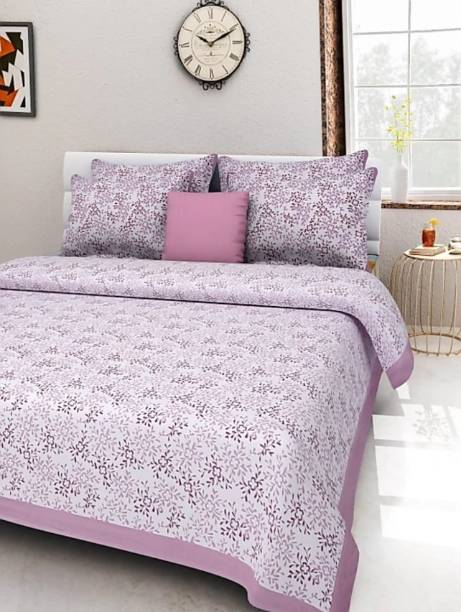 MAGITEXT 151 TC Cotton Double King Printed Bedsheet