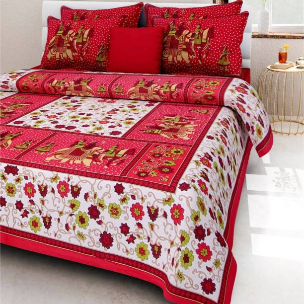 MAGITEXT 228 TC Cotton Double Printed Bedsheet