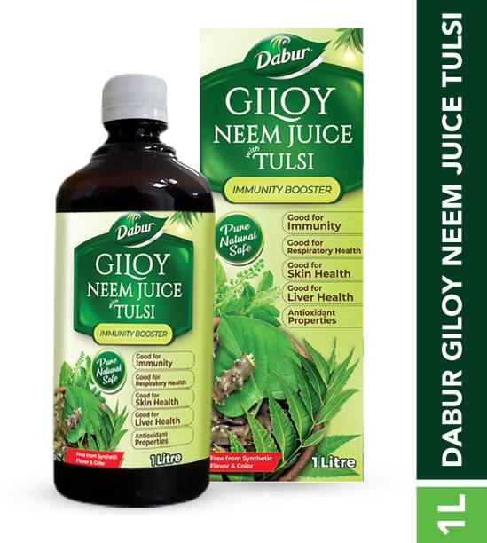 Dabur Giloy Neem Juice with Tulsi: 100% Ayurvedic Health Juice for Immunity Boosting