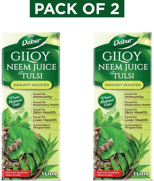 Dabur Giloy Neem Juice with Tulsi: 100% Ayurvedic Health Juice for Immunity Boosting