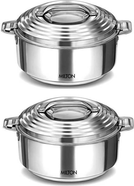 MILTON Milton Galaxia1500 ml SS Casserole -Set of 2 Pack of 2 Cook and Serve Casserole Set