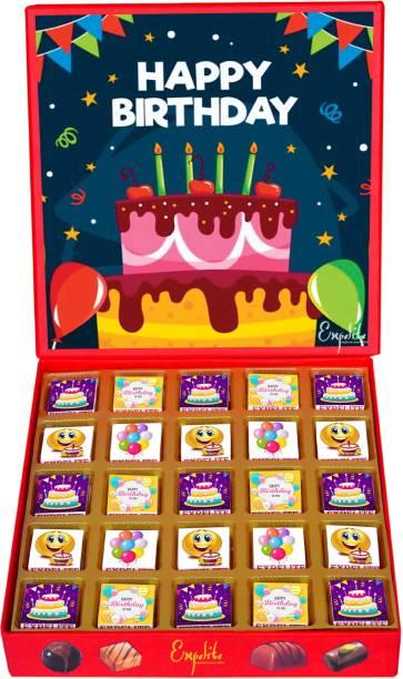 Expelite Happy birthday chocolates - 25 pc beautiful birthday gift Bars