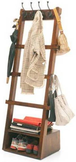 Urban Ladder Alfred Solid Wood Coat Stand