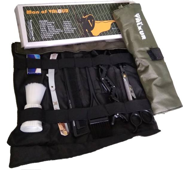 man of valour MOV Standard Personal Salon Kit (9 Important Tools) Complete Protection During Salon / Barber Shop Visit .