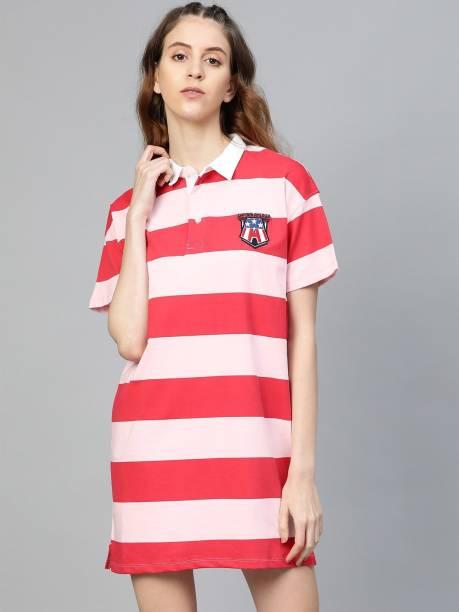 Kook N Keech Marvel Women T Shirt Pink Dress