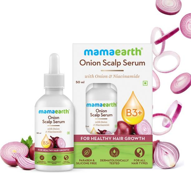 MamaEarth Onion Scalp Serum with Onion & Niacinamide for Healthy Hair Growth