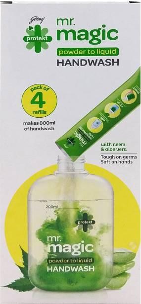 Godrej Protekt Mr. Magic Powder-to-Liquid Handwash Refill Hand Wash Pouch