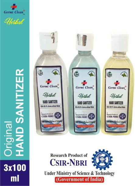 Germi clean plus Herbal hand gel sanitizer, Research product of CSIR-NBRI under ministry of science and technology (Goverment of India) Hand Sanitizer Bottle