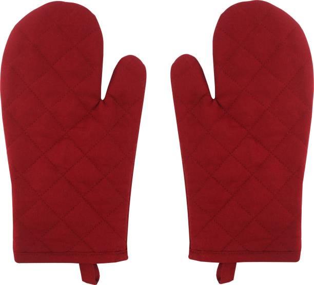 AIRWILL Red Cotton Kitchen Linen Set