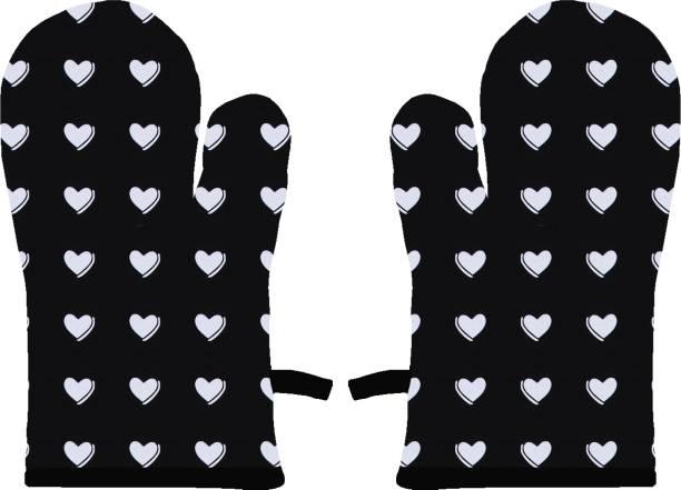 AIRWILL Black, White Cotton Kitchen Linen Set
