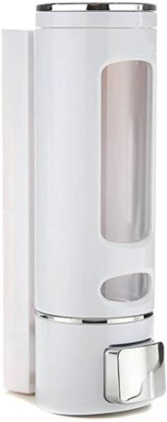 Aster Cylindrical Multi Purpose Wall Mounted Liquid Soap/Shampoo/Hand Wash/Lotion/Conditioner/Sanitizer/Gel Dispenser for Home, Office Bathroom & Kitchen Sink(350 ml, ABS, White Color) (Pack of 1) 350 ml Liquid, Gel, Lotion, Foam, Conditioner, Soap, Shampoo, Sanitizer Stand Dispenser