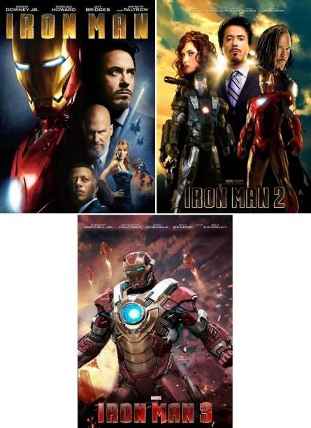 Iron Man - 1 , 2 , 3 (3 movies)
