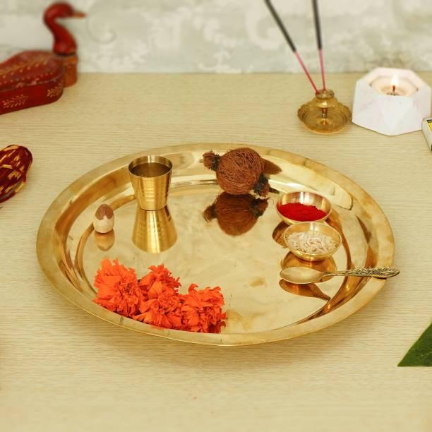 Flipkart SmartBuy Premium Pooja Thali Set Brass