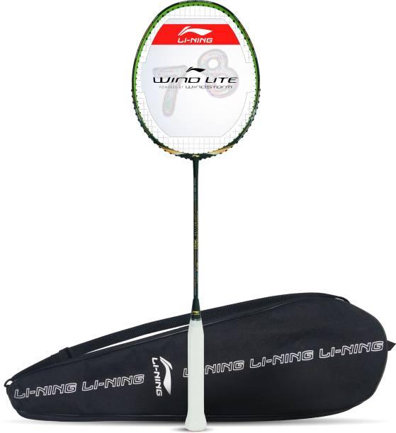 LI-NING Wind Lite 700 Black, Gold Strung Badminton Racquet
