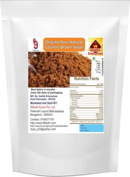 99Auth Sugar Pure Natural Organic Brown Sugar 150g Country Brown Sugar