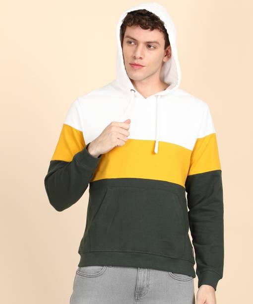 FLYING MACHINE Full Sleeve Color Block Men Sweatshirt